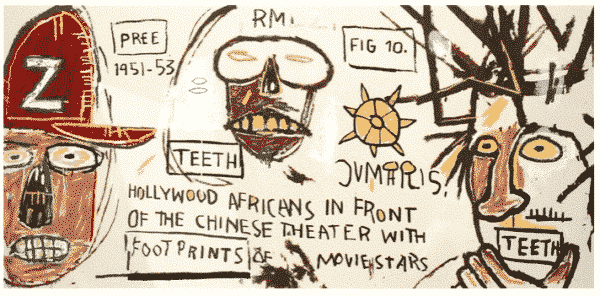 Hollywood Africans in Front of the Chinese Theater with Footprints of Movie Stars - Jean-Michel Basquiat