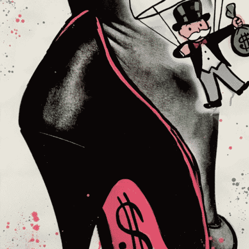Pink Bottom$ by Alec Monopoly