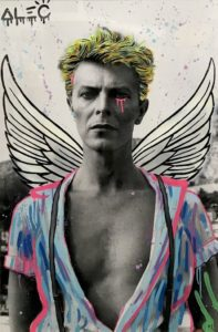Wings Over Bowie by Alec Monopoly x Helmut Newton