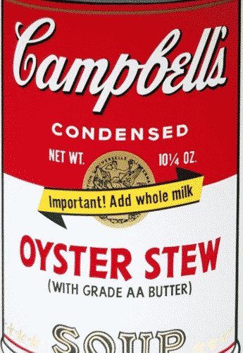 Campbell's Oyster Stew By Andy Warhol