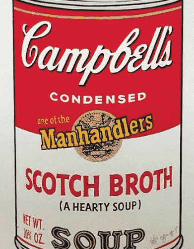 Campbell's Scotch Broth Soup Can By Andy Warhol