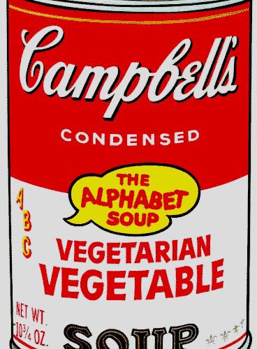 Campbell's Vegetarian Vegetable Soup By Andy-Warhol