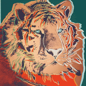 Siberian Tiger By Andy Warhol
