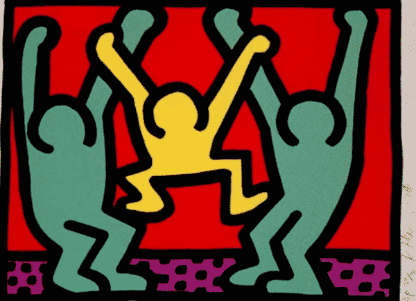 4 Pop Shop I By Keith Haring